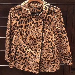 WHBM Cheetah Swing Coat